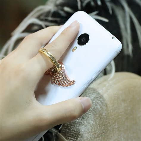 Glitter Skin With Finger Ring Huawei P8 bling magnetic car cell phone for iphone