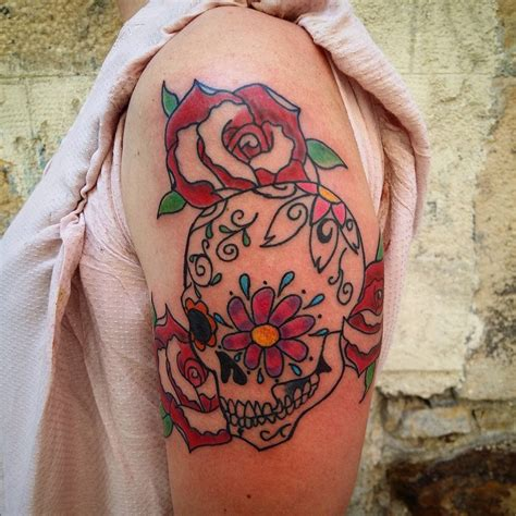 candy skull tattoo 125 best sugar skull designs meaning 2018