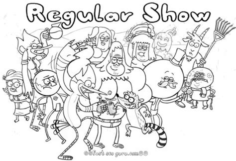 printable coloring pages regular show printable cartoon network regular show coloring pages