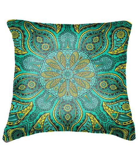 yellow patterned cushions belkado green yellow ethnic patterned cushion cover buy
