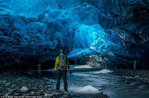 crystal ice cave iceland photographer captures ice cave network beneath iceland s