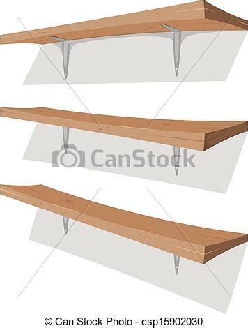Siku Rak 15x20 Cm Shelf Bracket 6 X 8 Siku Penyangga Tahanan vectors of wood shelf on the wall illustration of