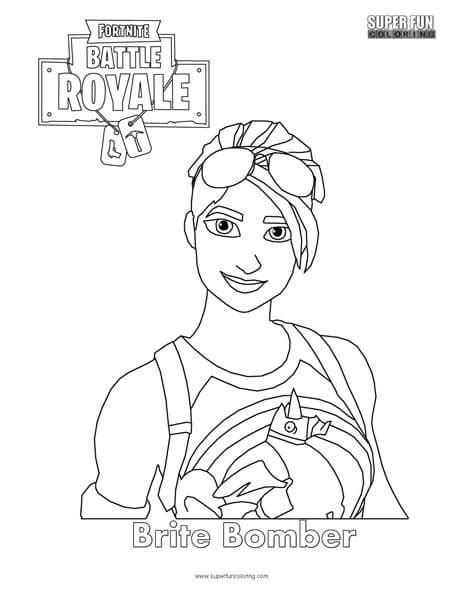 fortnite colouring pages brite bomber fortnite coloring page coloring
