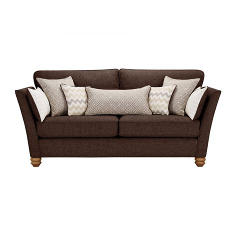 oak furniture land sofa gainsborough 3 seater sofa in brown oak furniture land