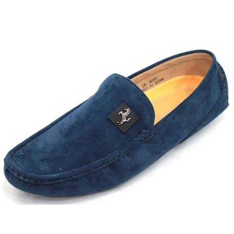 mens velvet loafer s velvet casual loafer ffs230 blue loafers