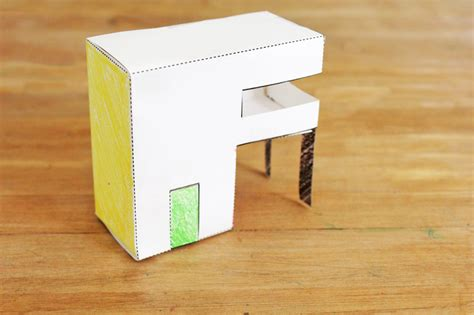 Folded Paper House - design for paper houses babble dabble do