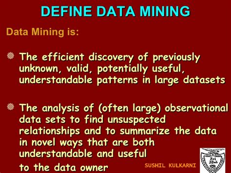 pattern definition in data mining ch 1 intro to data mining