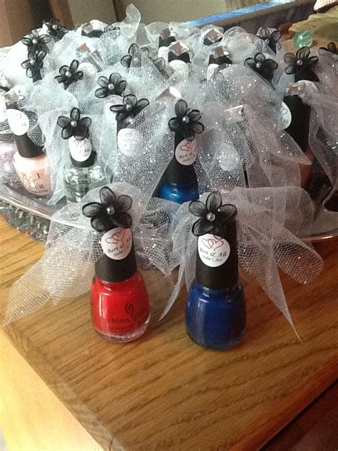 Bridal Shower Souvenirs by Bridal Shower Nail Favors Wedding