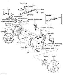 Toyota Hilux Brake System Diagram Rear Brake Shoes Toyota Sequoia 2001 Repair Toyota