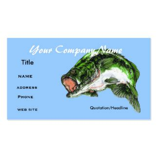 Fish Business Card Template Free by Bass Fishing Business Cards Templates Zazzle