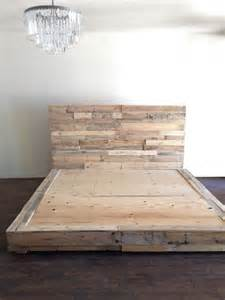 Reclaimed Wood Bed Frames Canada 25 Best Ideas About Wood Platform Bed On
