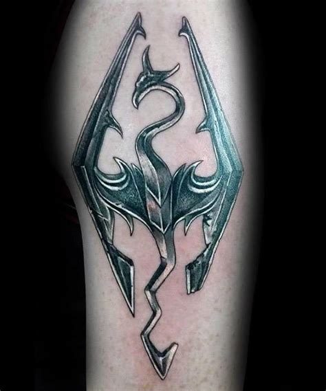 50 skyrim tattoo designs for men video game ink ideas