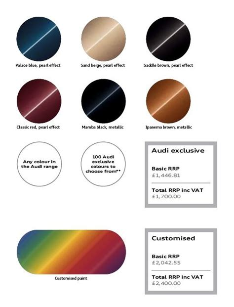 audi exterior paint colors autos weblog