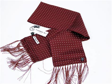 peckham rye spot retro 60s mod wine silk scarf