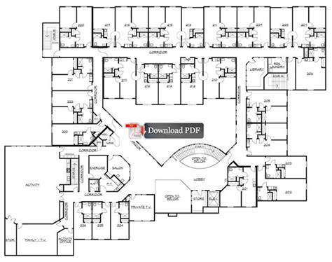assisted living facility floor plans carrington court assisted living assisted living floor