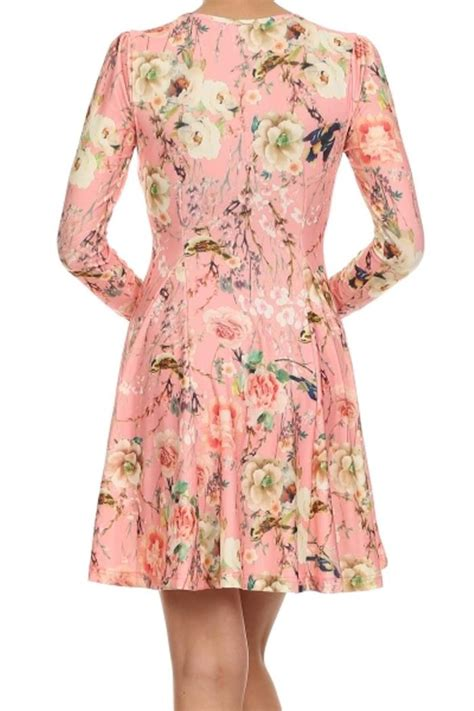 Lvzd Dress Vivo Pink vivo floral dress from idaho by garment district shoptiques