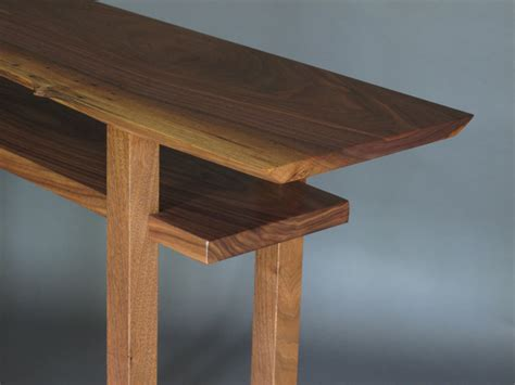 tall couch table live edge table narrow side table tall sofa table live edge