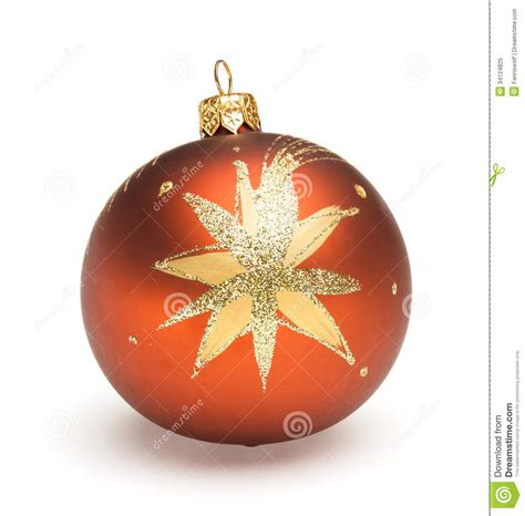 orange christmas ball royalty free stock photo image