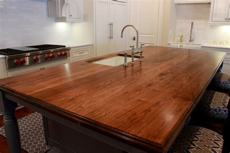 walnut kitchen island walnut countertops j aaron custom wood countertops