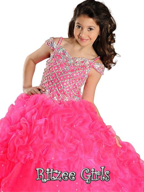 tiny puffy for pinterest crystal sweetheart bodice ritzee girls pageant ball gown