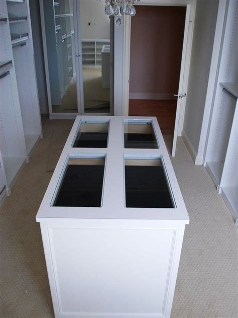 island with drawers for closet closet island this island has jewelry drawers at the top