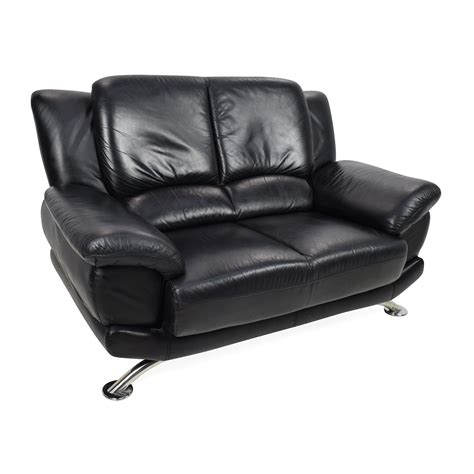 black leather sofa loveseat 65 off custom black leather loveseat sofas