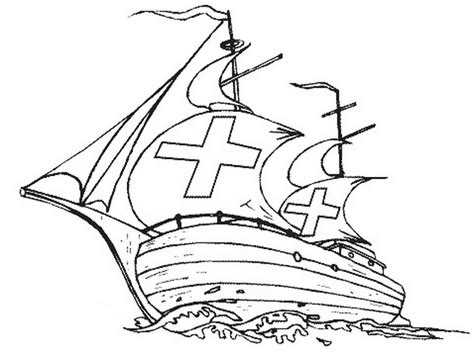 christopher columbus ships coloring pages coloring pages