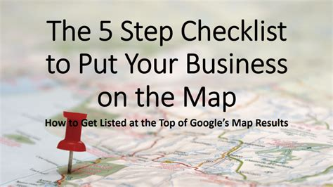 when to put your checklist put your business on the map
