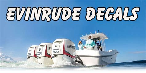 evinrude boat decals evinrude decals evinrude cowling cover