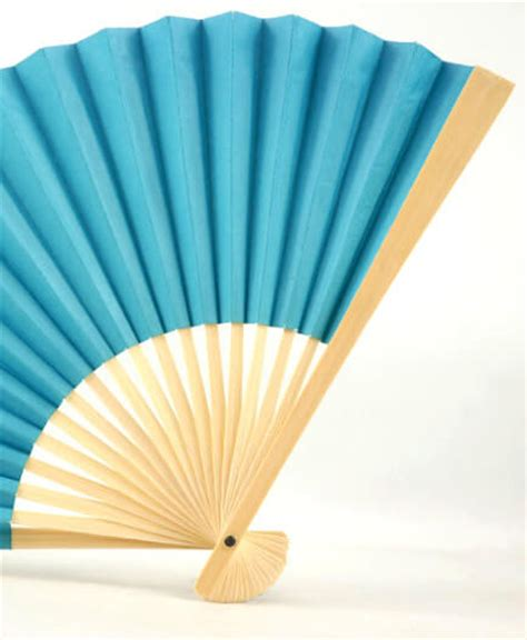 Paper Folding Fan - turquoise blue paper folding fans