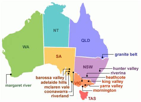 map of australia regions australian wine culture progress and map