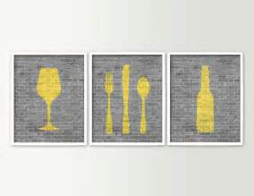 Dining Room Art Prints by Modern Dining Room Art Kitchen Prints Beer Wine Fork Knife