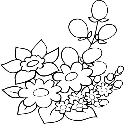 immagini di fiori da colorare disegni di primavera da colorare e stare in fiori da