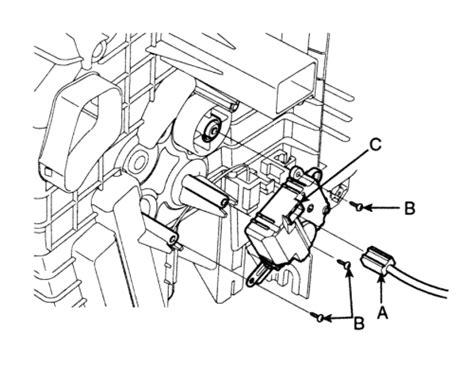 repair guides temperature door actuator removal