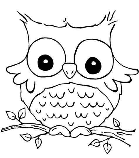 owl color pages az coloring pages