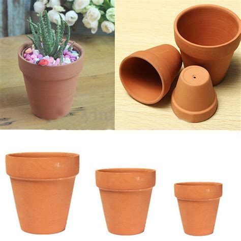 Clay Planter by 1 3pcs Terracotta Clay Flower Pot Handmade Ceramic