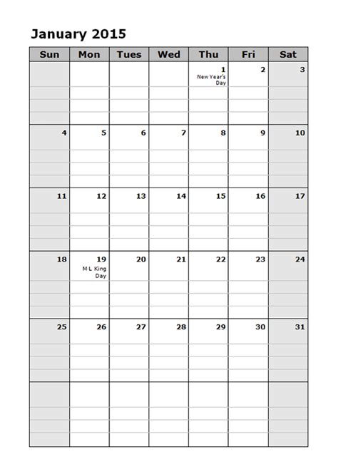 free monthly calendar templates 2015 2015 monthly calendar template 15 free printable templates