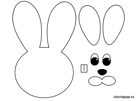 easter bunny craft template easter bunny paper craft easter coloring