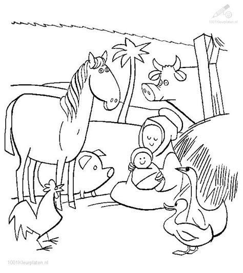 christmas stable coloring page search results calendar