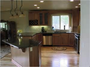 Kitchen Colors With Hickory Cabinets Hickory Kitchen Cabinets With Dark Countertop Home