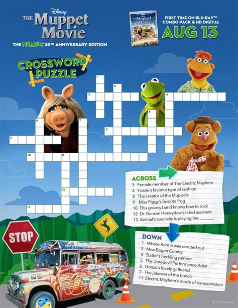 1982 disney film xword test your muppet movie skills with this crossword puzzle