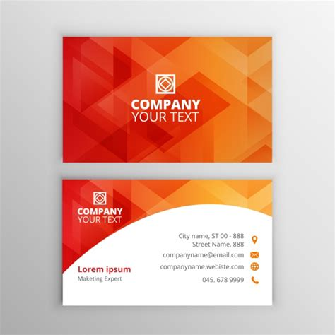 business card template freepik business card template vector free