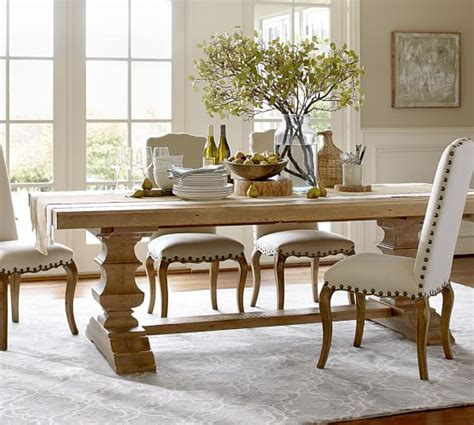 Ethan Allen Dining Room Tables banks reclaimed wood extending dining table pottery barn