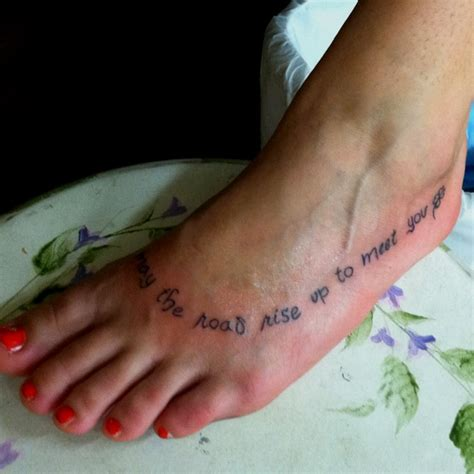 irish blessing tattoo my new it is from the blessing quot may the