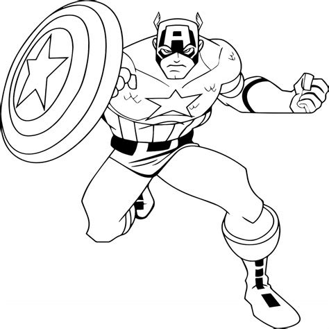 Coloring Page Captain America by 30 Printable Captain America Coloring Pages