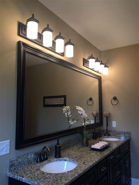 Master Bathroom Vanity Lights Master Bathroom Bronze Vanity Lighting Transitional Bathroom Other By Denney Lighting