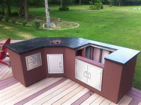diy backyard kitchen outdoor kitchen diy marceladick com