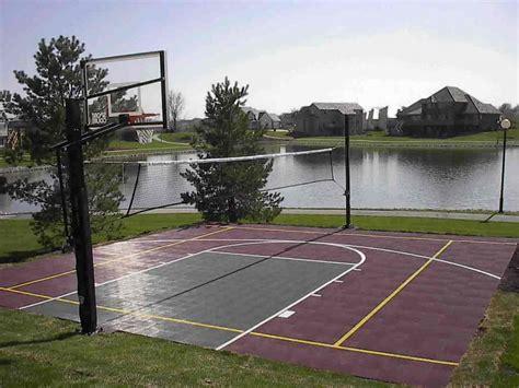 top 28 backyard basketball court size backyard