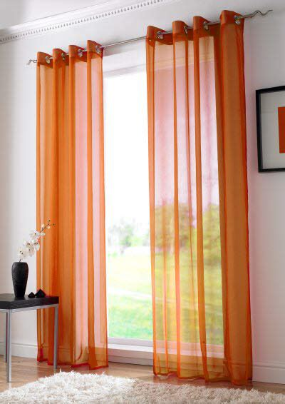 Orange Panel Curtains Plain Eyelet Orange Voile Curtain Panels Tie Blinds Low Priced