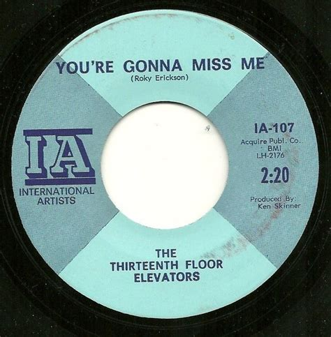 psychedelic 45 13th floor elevators you re gonna miss me